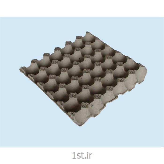 عکس سینی بسته بندیشانه تخم مرغ کاغذی سفید 30 خانه ای white paper egg tray