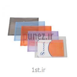 پاکت دکمه دار سمند مدل FC  شفاف کد SA137T - سفید