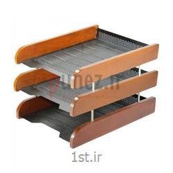 عکس کازیهکازیه شهاب تحریر مدل سه طبقه چوب و فلز کد 063- قهوه ای