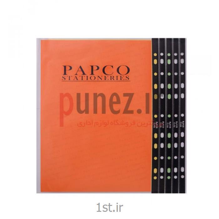 کاور (پوشه کیسه ای) پاپکو شفاف کد 11-A4 -مشکی