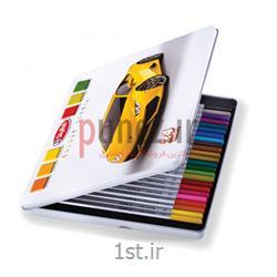 مداد رنگی پارس مداد مدل 24 رنگ استایلیش جعبه فلزی کد 3061
