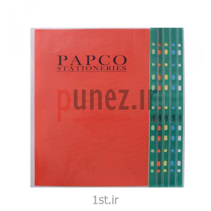 کاور (پوشه کیسه ای) پاپکو شفاف کد 11-A4 - سبز