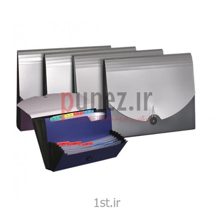 اکسپندینگ فایل سمند مدل متالیک با جای چک کد SA710 - آبی