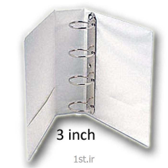 کلاسور کاوردار کوشا 4 قفله - باریک 2.5 سانت - سفید