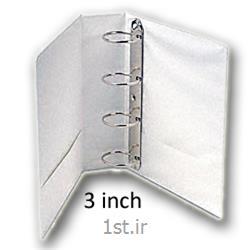 کلاسور کاوردار کوشا 2 قفله - باریک 2/5 سانت سفید