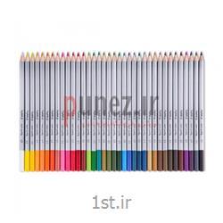 مداد رنگی پارس مداد مدل 36 رنگ استایلیش جعبه فلزی کد 9507
