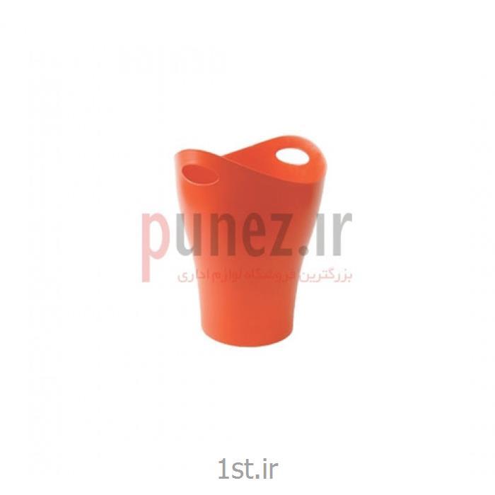 سطل زباله گرد آذران تحریرات کد 602- نارنجی