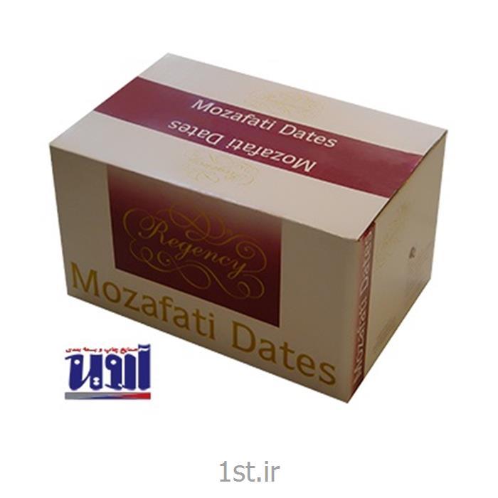 عکس جعبه بسته بندیطراحی و تولید جعبه و کارتن مادر رطب مضافتی