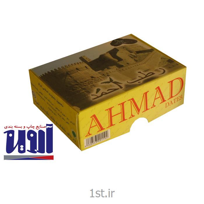 جعبه بسته بندی مقوایی لمینیتی خرما تولید کارتن سازی آروین