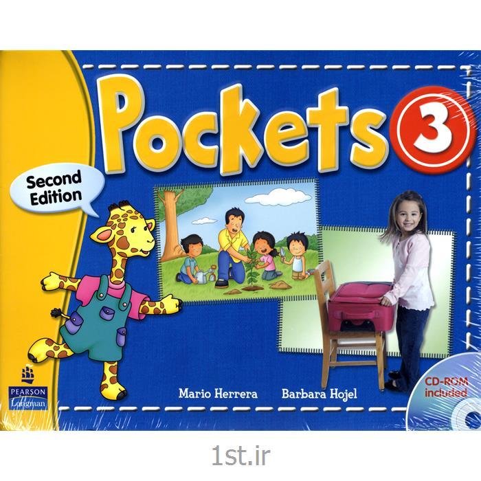 عکس کتابکتاب آموزش زبان Pockets3 برای خردسالان به همراه کتاب کار و سی دی
