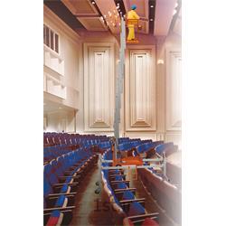 بالابر الکتروهیدرولیک تک ریل با پایه مخصوص آمفی تئاتر