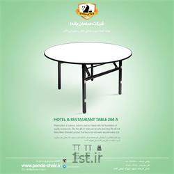 عکس میز هتلمیز گرد تاشو بنکوئیت کد 204