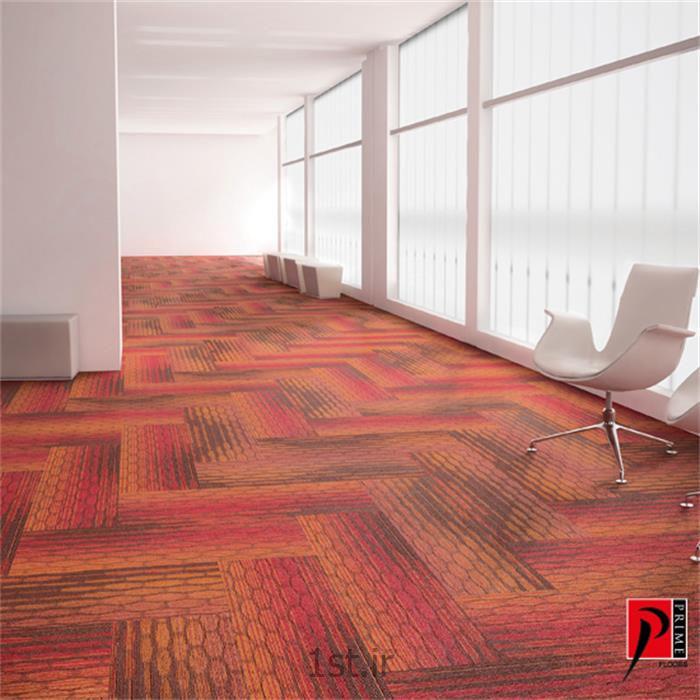 عکس سایر کفپوش هاموکت طرح دار تایل رول با کلاس تردد بالا پرایم فلورز Prime Floors