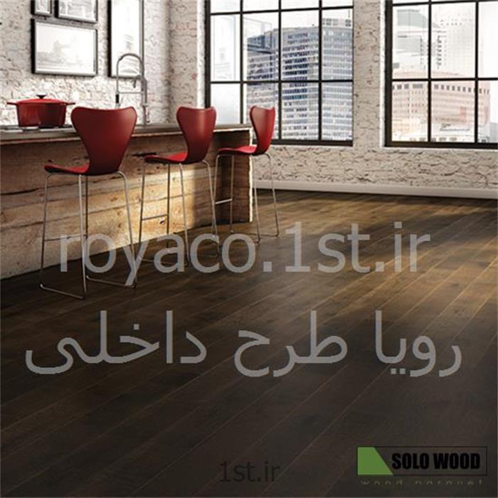عکس کفپوش چوبیکفپوش پارکت تمام چوبی طبیعی برای مکان های تجاری پرتردد سولوود SoloWood