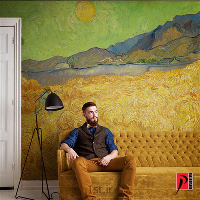 عکس کاغذ دیواری و دیوار پوشپوستر دیواری نقاشی ونگوگ طرح طبیعت