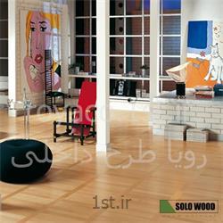 عکس کفپوش چوبیپارکت های تمام چوب راش 100% طبیعی 2 لایه مسکونی سولو وود ( SoloWood )