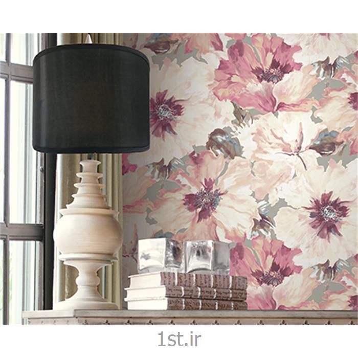 عکس کاغذ دیواری و دیوار پوشکاغذ دیواری گل دار اتاق پذیرایی لوگانو Lugano