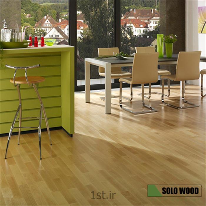 انواع پارکت تمام چوبی طبیعی چند لایه گونه راش سولووود ( SoloWood )