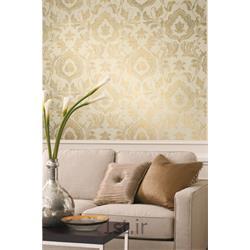 کاغذ دیواری کلاسیک پشت میز تلویزیون آمریکایی گلدلیف ( Gold Leaf )