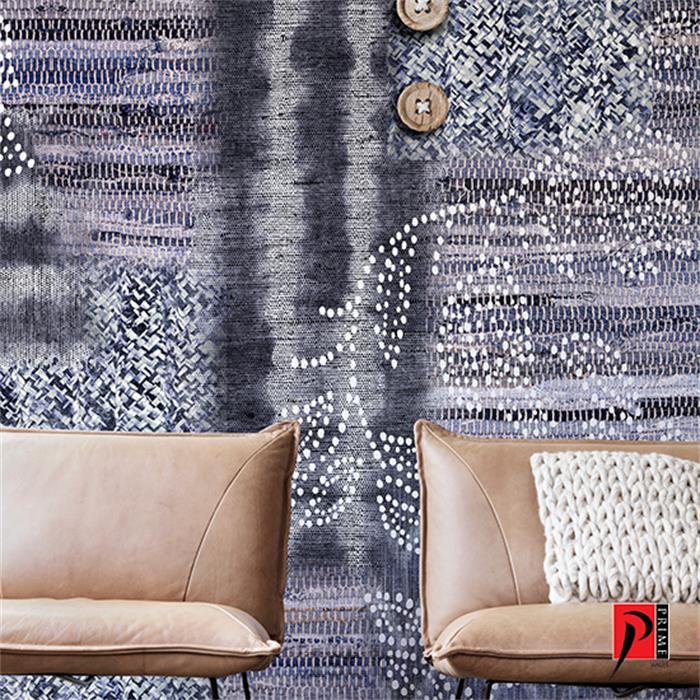 عکس کاغذ دیواری و دیوار پوشکاغذ دیواری مدرن طرح دار اتاق پذیرایی و نشیمن پرایم والز (PrimeWalls)