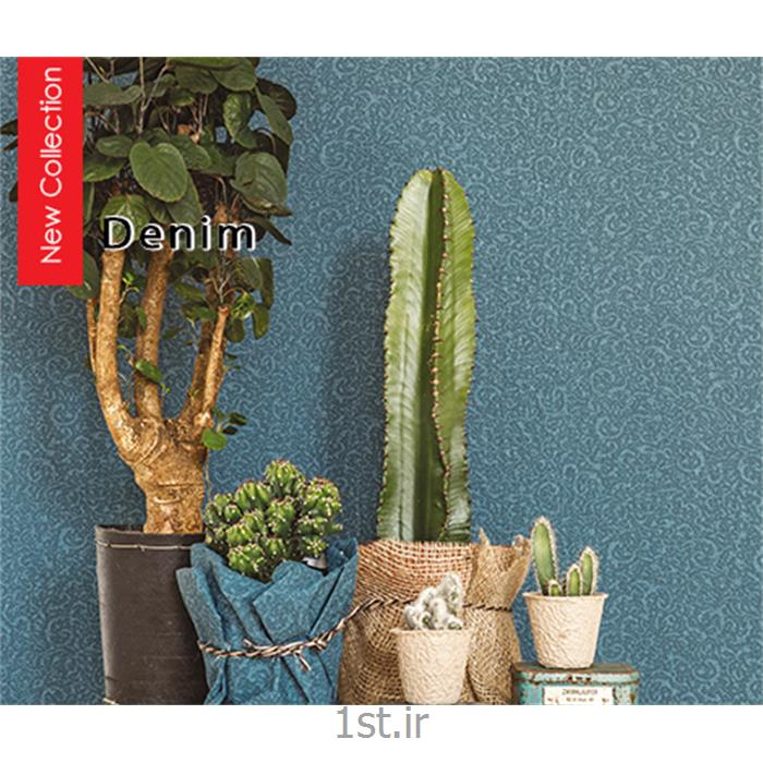 عکس کاغذ دیواری و دیوار پوشکاغذ دیواری طرح دار مدرن اتاق خواب رنگ آبی هلندی