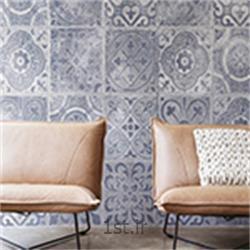 کاغذ دیواری طرح دار مدرن اتاق خواب رنگ آبی هلندی