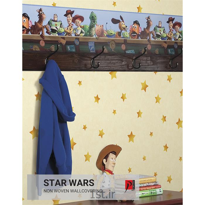 عکس کاغذ دیواری و دیوار پوشبردر کاغذ دیواری اتاق کودک آمریکایی استار وارز