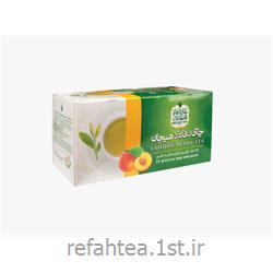 چای کیسه ای سبز با طعم هلو