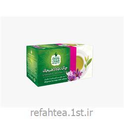 چای تی بگ سبز با طعم زعفران 20 عدد رفاه