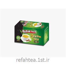چای تی بگ سبز با طعم دارچین 25 عدد رفاه