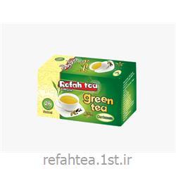 چای تی بگ سبز با طعم هل 25 عددی رفاه