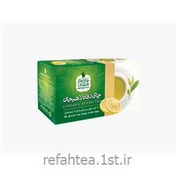 چای تی بگ سبز با طعم لیمو 25 عدد رفاه
