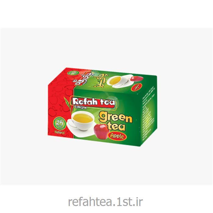 چای سبز کیسه ای با طعم سیب
